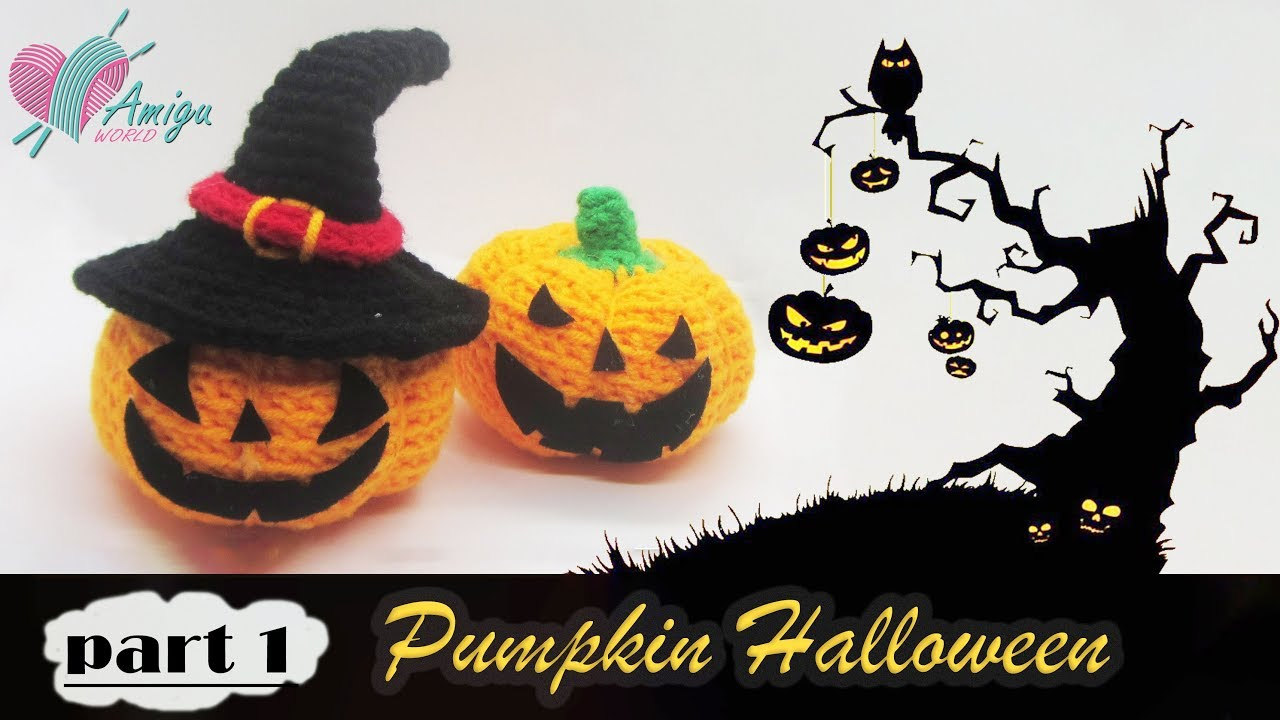 FREE Pattern – How to crochet a Pumpkin Halloween amigurumi (p1)