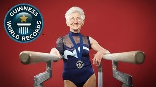 getlinkyoutube.com-World's Oldest Gymnast - Meet The Record Breakers - Guinness World Records