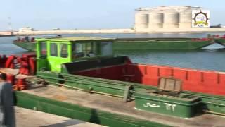 تجربة عملية لنقل الحبوب نهرياً من ميناء دمياط