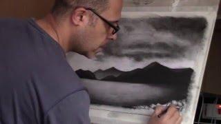 getlinkyoutube.com-Charcoal landscape Drawing