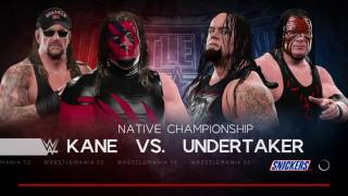 WWE 2k17 The Undertaker VS Kane