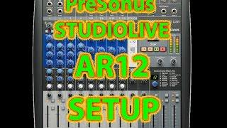 PreSonus StudioLive AR12 SETUP & SD RECORDING