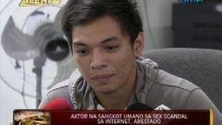 24 Oras: Aktor na sangkot umano sa sex scandal sa internet, arestado