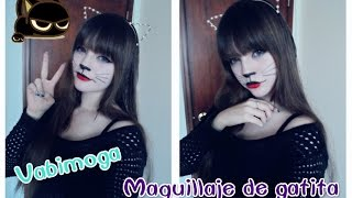 getlinkyoutube.com-Maquillaje de gatita super fácil