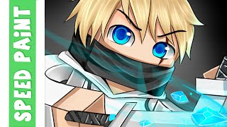 getlinkyoutube.com-Minecraft Whiteninja Speedpaint- Enzo