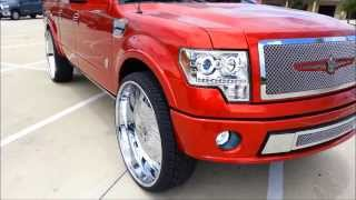 "getlinkyoutube.com-Candy Red Harley Davidson F-150 on 32"" AMANI FORGED"