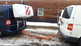 getlinkyoutube.com-Volkswagen T5 transporter 4motion 4x4 stuck on the