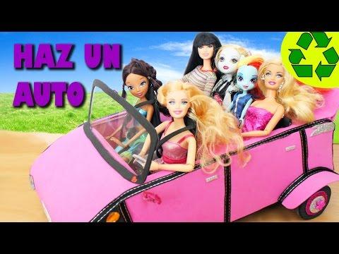 Cómo hacer un automóvil, carro, auto, coche para tu muñeca Barbie - Manualidades para muñecas