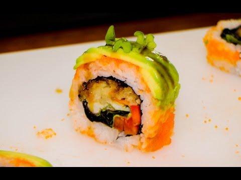 sushi roll soft shell crab tempura - sushi rolls