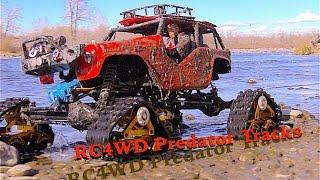 RC CWR RC4WD Wraith Predator Tracks X 2 and an SCX-10