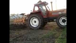 getlinkyoutube.com-Fiatagri 180-90 quadrivomere moro e marmitta in acciaio