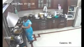 maid cctv footage ranchi jharkhand