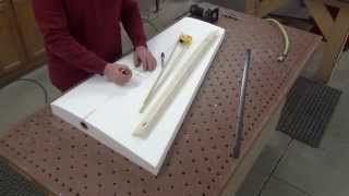 Adding a Spar / Tube extension to a foam wing before sheeting