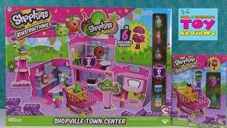 getlinkyoutube.com-Shopkins Kinstructions Shopville Town Center & Checkout Lane Review   PSToyReviews