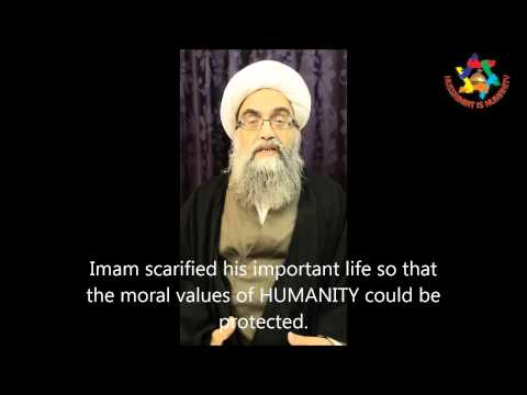AYATULLAH HASAN RAZA GHADIRI MESSAGE FOR HUSSAINIAT IS HUMNAITY