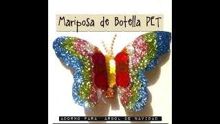 getlinkyoutube.com-Mariposa Pet Botella decoración arbol de Navidad Tree Christmas