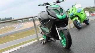 getlinkyoutube.com-Black - Green SportRox | from street to race #
