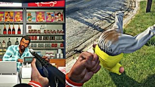 getlinkyoutube.com-GTA 5 Online - FAT GUY SH!TS HIS PANTS AFTER GETTING KNOCKED OUT! CRAZY STORE ROBBERY GONE WRONG!