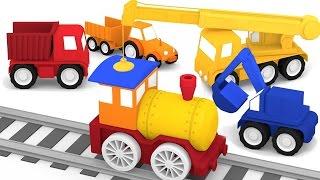 getlinkyoutube.com-Cartoni animati per bambini: Macchinine Colorate e il treno al vapore
