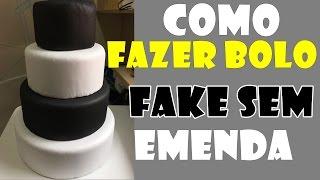 getlinkyoutube.com-Como fazer bolo fake em E.V.A sem emendas.