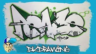 getlinkyoutube.com-How to draw graffiti letters peace step by step