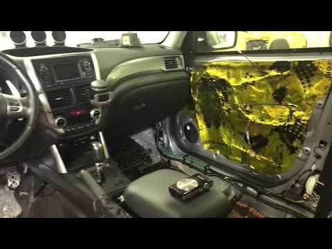 Subaru Forester вибро- шумоизоляция многоуровневая по высшему классу. Стало очень даже тихо