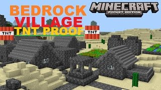 getlinkyoutube.com-MCPE 0.16.0 -  LARGE TNT PROOF BEDROCK VILLAGE ! SUPER COOL MAP + 2 TEMPLES SEED