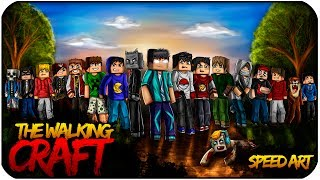 getlinkyoutube.com-THE WALKING CRAFT - Minecraft SpeedART!