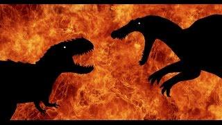 getlinkyoutube.com-Jurassic Rage!!! Spinosaurus vs Vastatosaurus Rex (Extended)