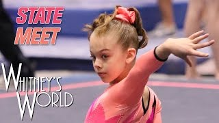 getlinkyoutube.com-Whitney Bjerken | Level 8 State Gymnastics Meet | Beam Champion
