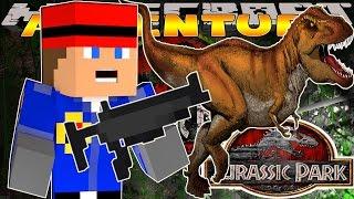 getlinkyoutube.com-Minecraft - Little Donny Adventures - T REX ATTACKS US IN JURASSIC PARK w/ DONUT