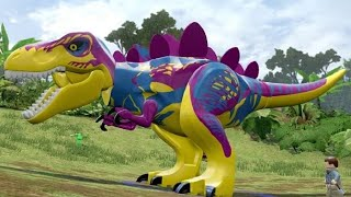 getlinkyoutube.com-LEGO Jurassic World - Custom Dinosaurs - Free Roam Gameplay (Dino Creation)