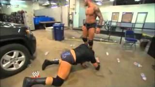 getlinkyoutube.com-WWE Friday Night Smackdown 23/12/2011 : Randy Orton attack Wade Barrett