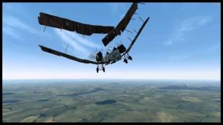 getlinkyoutube.com-(PC) Rise Of Flight: Damage physics in slow motion.