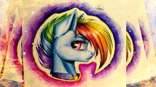 getlinkyoutube.com-MLP Speedpaint: Rainbow Dash the Warrior