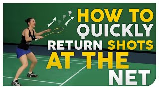 getlinkyoutube.com-How to QUICKLY Return Shots at the Net - Badminton Secrets