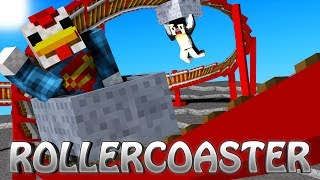 getlinkyoutube.com-Minecraft | Roller Coaster Mod Showcase! (Roller Coaster Tycoon, RollerCoaster, Amusement Park)