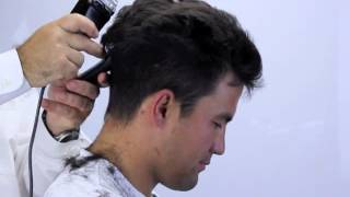 getlinkyoutube.com-How to cut hair at home with clippers, short sides and layered spiky top.