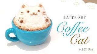 getlinkyoutube.com-How to Make Realistic Latte Art Cat! - Relaxing Clay Tutorial