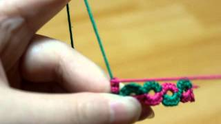 getlinkyoutube.com-Fireweed Tatting Class, split ring, 스플릿 링 만들기