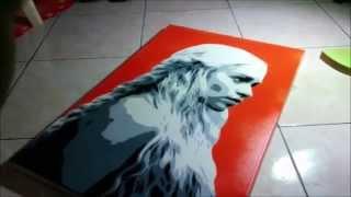 getlinkyoutube.com-Multi Layer Stencil Khaleesi