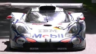 Mark Webber in Le Mans Porsche GT1 at FOS