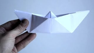 getlinkyoutube.com-How to Make a Paper Boat | Origami Paper Boat 9 Easy Steps