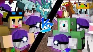getlinkyoutube.com-콜랩 VS 다이아 자존심 대결! [포켓몬 마스터볼 럭키배틀 진호.천양 VS 애플.희바] 마인크래프트 & Minecraft Pokemon Lucky Battle [진호]