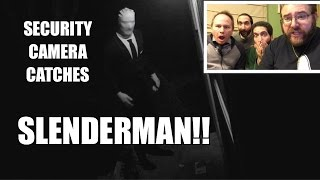 getlinkyoutube.com-SLENDER MAN CAUGHT ON SECURITY CAMERA! Epic Reactions!