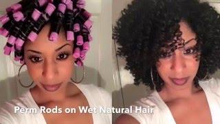 getlinkyoutube.com-Perm Rods on Natural Hair