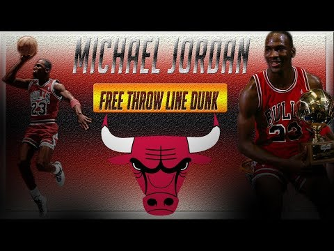(Throwback Classic) Michael Jordan Historic Free Throw Line Dunk