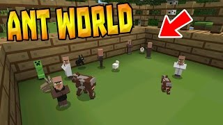 getlinkyoutube.com-ANT WORLD in MCPE 0.16.0!!! - Tiny Mobs Addon - Minecraft PE (Pocket Edition)