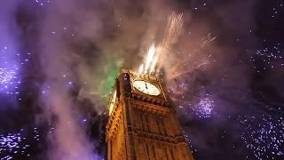 London Big Ben New Years 2012 Fireworks HD