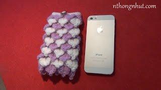 getlinkyoutube.com-Dạy móc túi điện thoại bằng len